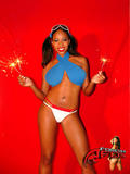 Amber Fox - Topless Fireworks Pic 1