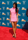 Cassie in ultra short pink dress shows her legs at 2008 BET Awards in Los Angeles