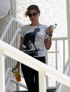 Sophia Bush Grabbing some coffee at Starbucks in Hollywood 07-09-2014 (not HQ)