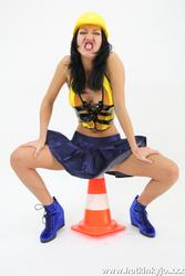 [HotKinkyJo] Road worker cone anal insertion and more
